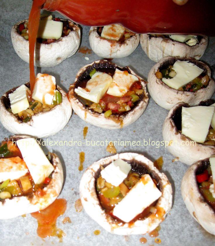 Ciuperci umplute la cuptor | Bucataria Familiei Mele