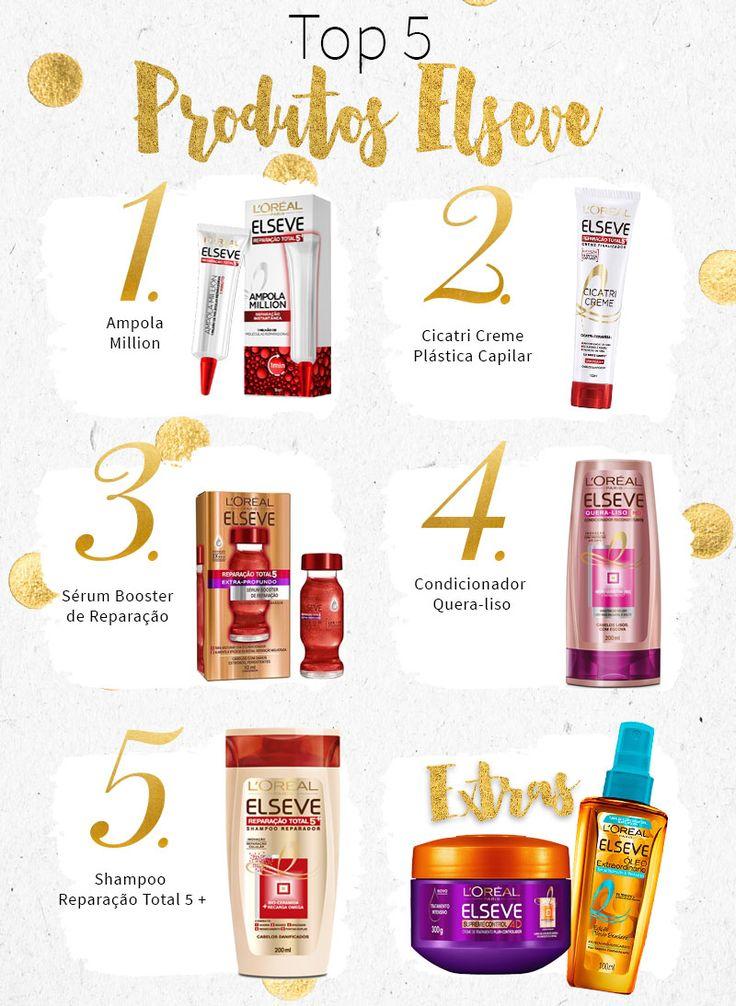 #Pechincha: Top 5 Produtos Elseve! Tem shampoo, máscara, condicionador, ampola, creme de pentear, óleo e booster preferido da marca!