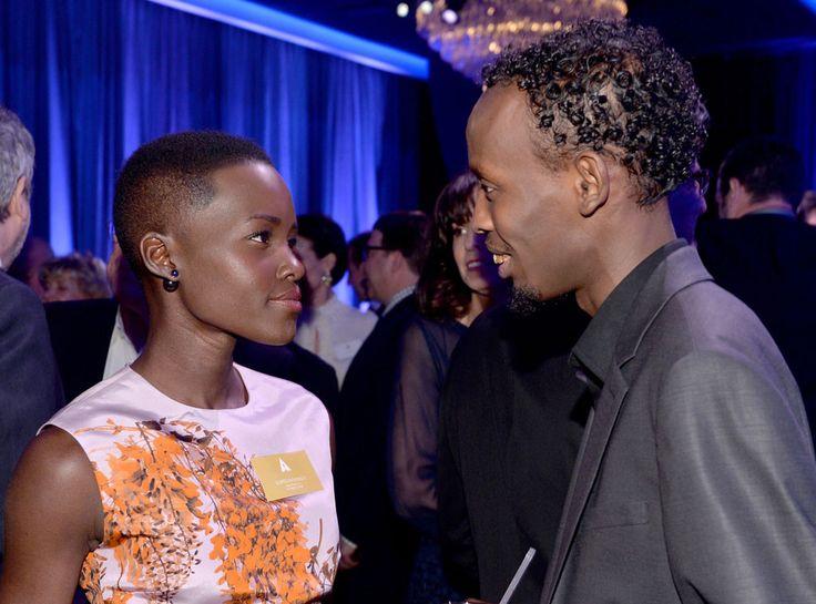 Lupita Nyong'o & Barkhad Abdi at 2014 Nominees Luncheon