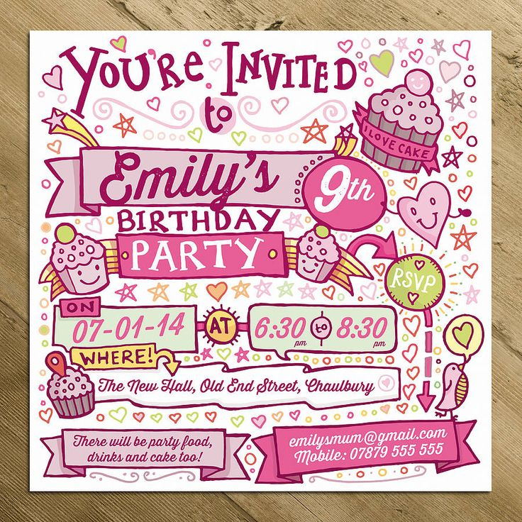 19 best Personalised Invitations and Invites images on Pinterest ...