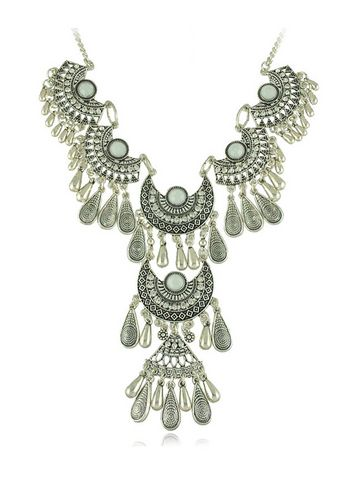 Exotic Look Hanging Pendant Alloy Women Necklace