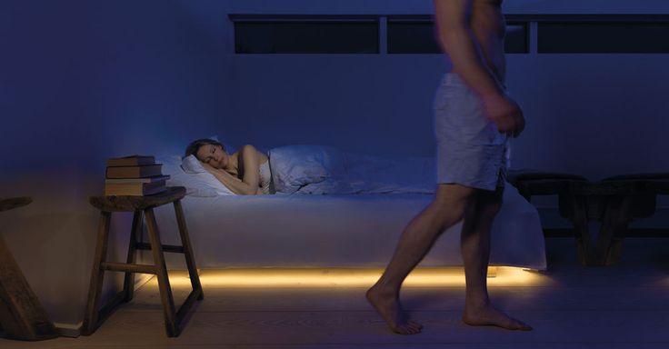 LED Bettlicht Nachtlicht mit Bewegungsmelder auch für Bad Küche Treppe Flur