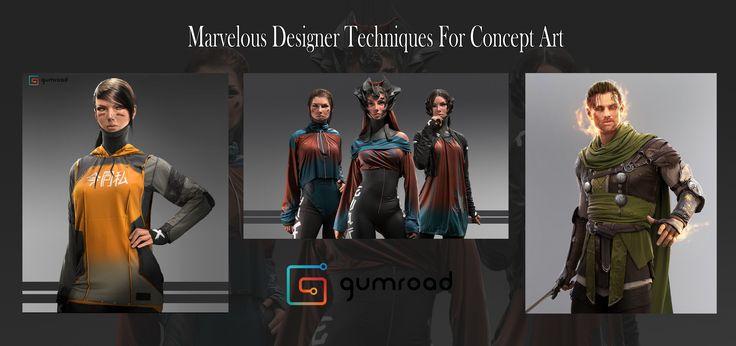 ArtStation - Gumroad - Marvelous Designer For Concept Art, Matthias De Muylder