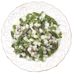 Asparagus & White Hominy Salad  Excellent textures and flavors make this a great start to your meal!