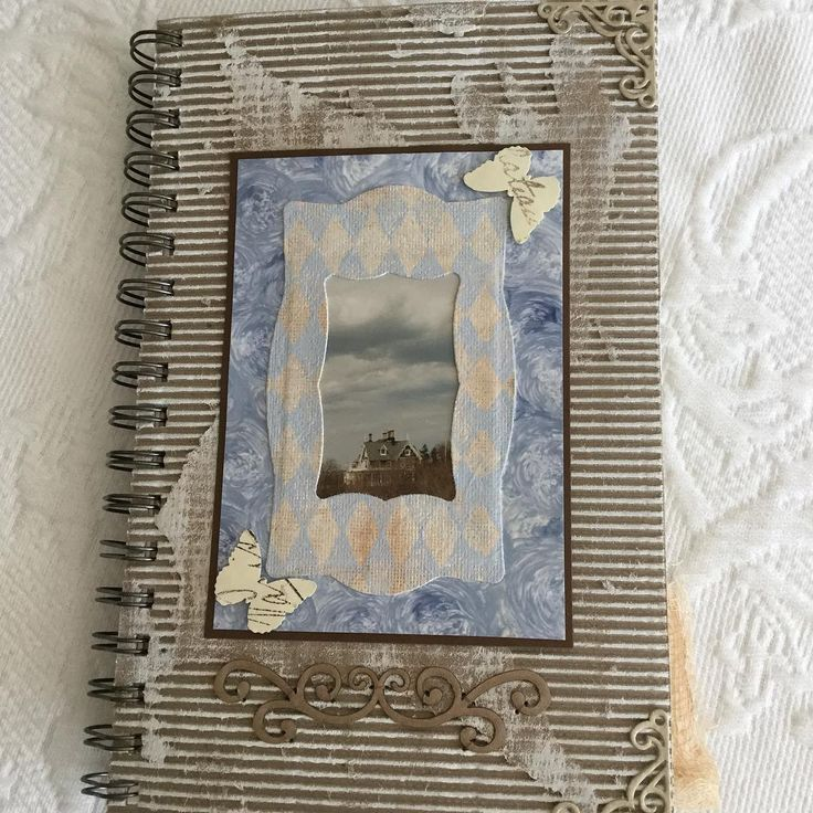 "Journal using a photo I found of the house; ""Sir John A McDonald"" which a relative had taken many years ago while driving by. #journal #journalsbysandrafoster #yupopaper #corrugatedpaper #corrugatedcardboard #corrugatedpapercraft #sandrafoster #sandrafosterphotography"