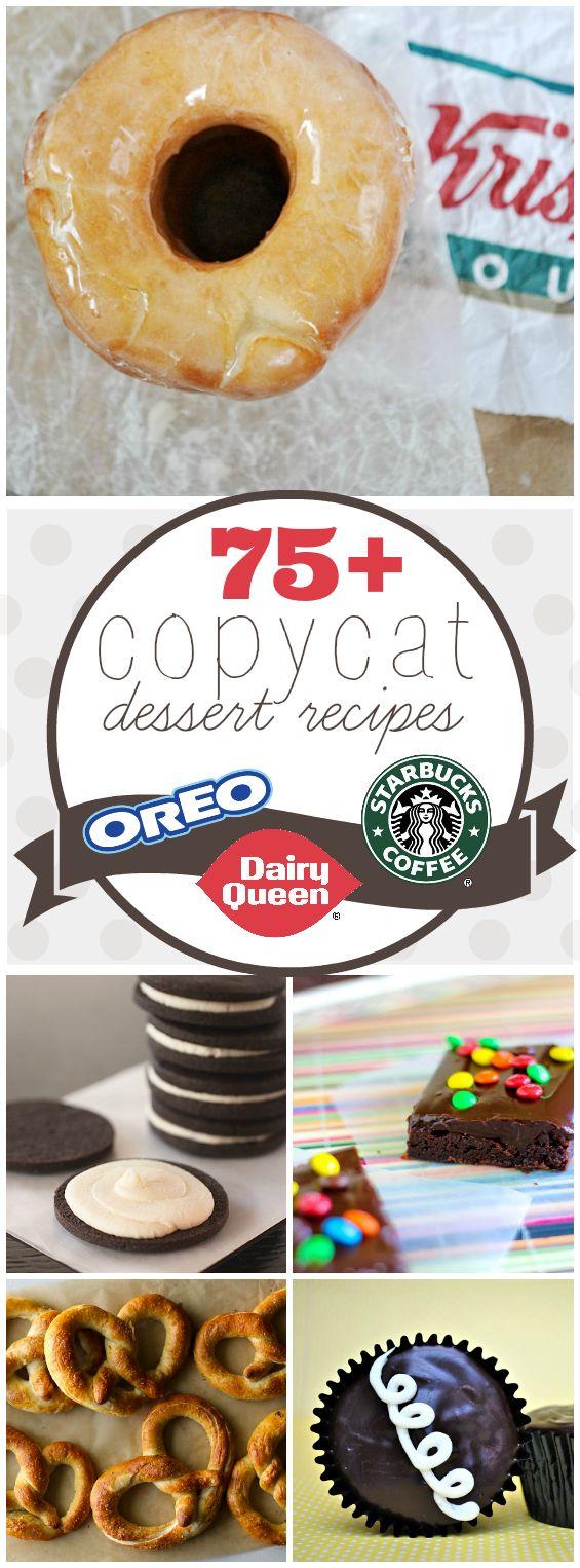 75+ SWEET Copycat Recipes | www.somethingswanky.com