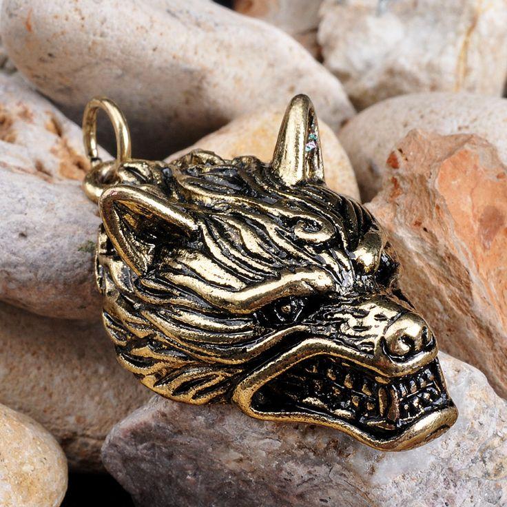Wolf Pendants Wolf Teen Pendants Necklace Pendant Men Jewelry Viking Silver Bronze Viking