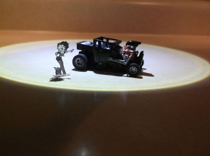 Custom Built HO Slot Car - 4Gear - '29 Ford Chopped Pick-up Rat Rod #Unbranded