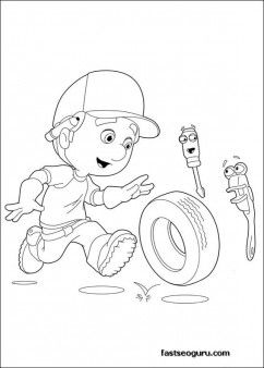 printable handy manny felipe and rusty coloring pages printable coloring pages for kids - Handy Manny Hammer Coloring Pages