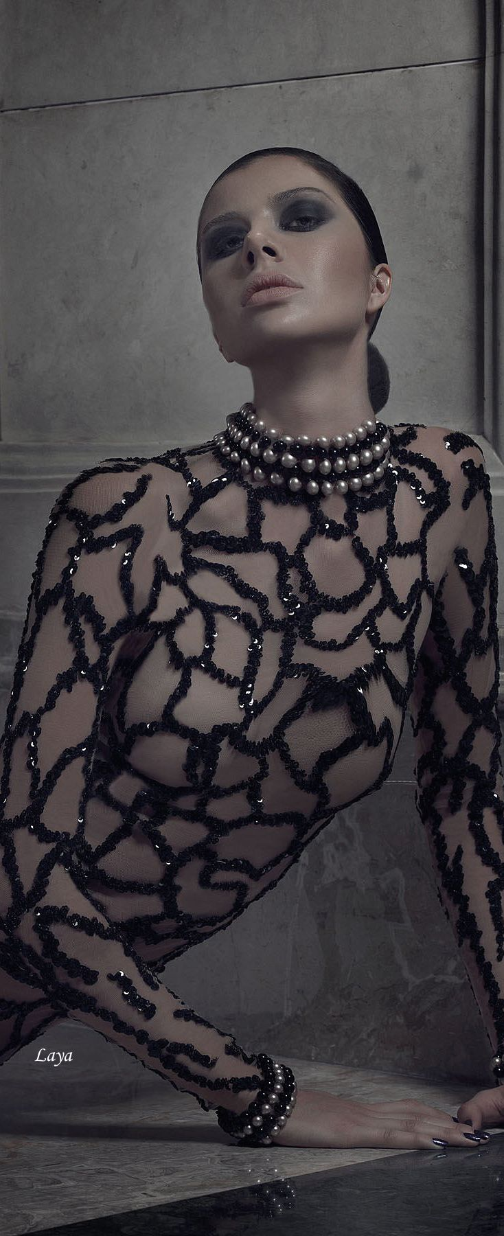 "CHARBEL KARAM Couture""Midnight Lust"" S/S 2015 jaglady"