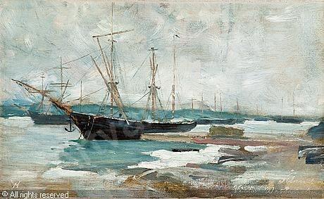 WESTERHOLM Victor - WINTER SCENE FROM ÅLAND ISLANDS, 1886