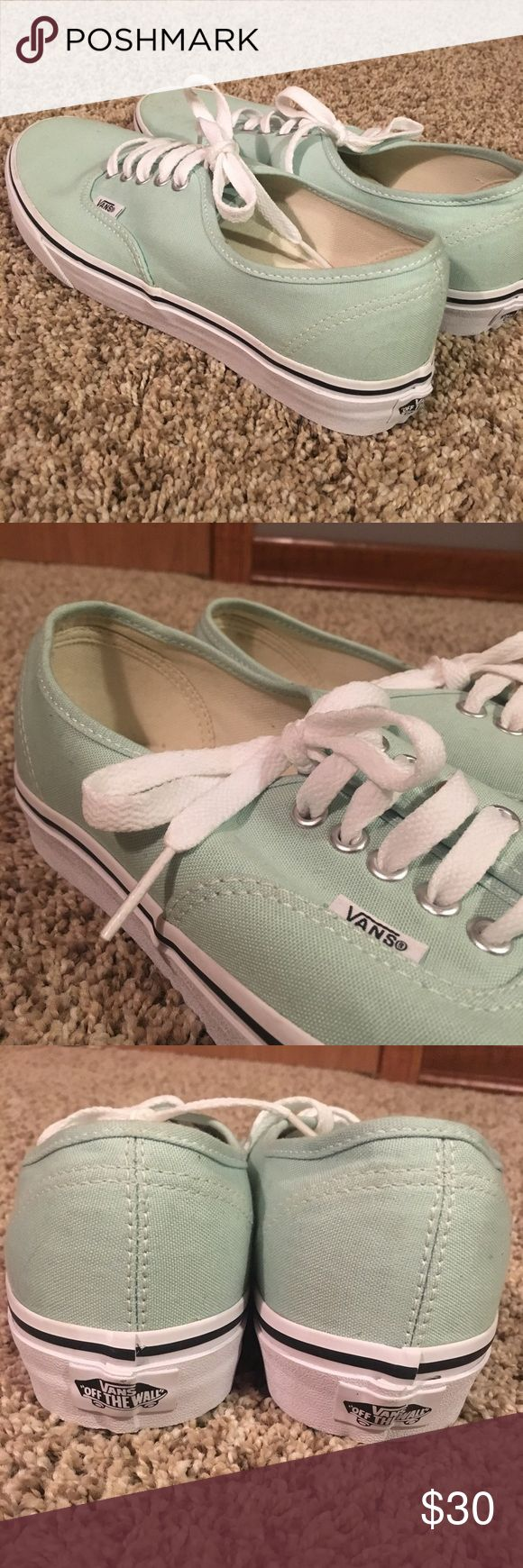 Teal vans - NEVER BEEN WORN Teal Vans - SZ 9 women's, SZ 7.5 men's - I have never worn these, they have just sat in my closet since I've grown out of my van phase! Vans Shoes Sneakers