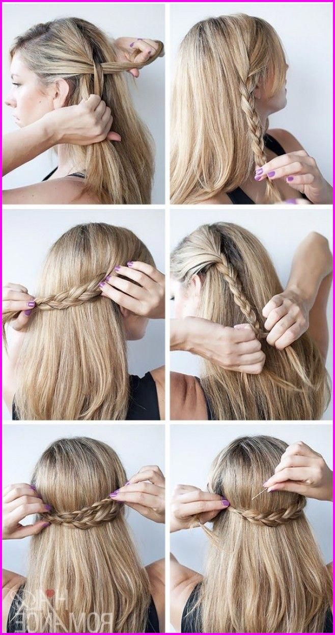 50 Easy And Cute Hairstyles For Medium Length Hair Easybraidsformediumhair Cute Simple Hairstyles Hair Styles Easy Hairstyles For Medium Hair