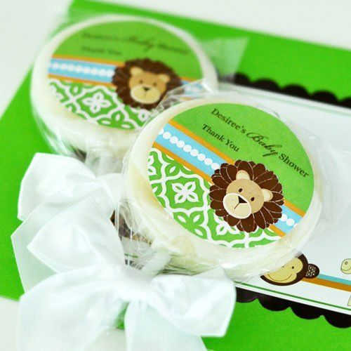 Personalized Baby Shower Jungle Safari Themed Lollipop