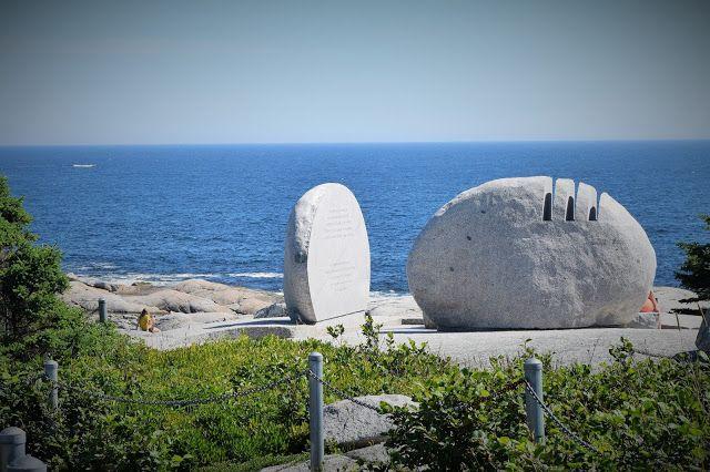 HappiLeeRVing: SwissAir Flight 111 Memorial: St. Margaret's Bay, Nova scotia