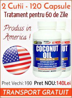 Comanda Ulei de Cocos 1000Mg Original – Capsule si Ulei – Produs in America si Ungaria