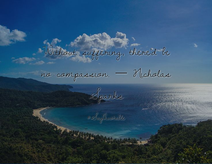 Quotes about Without suffering, there'd be no compassion.  ― Nicholas Sparks  with images background, share as cover photos, profile pictures on WhatsApp, Facebook and Instagram or HD wallpaper - Best quotes