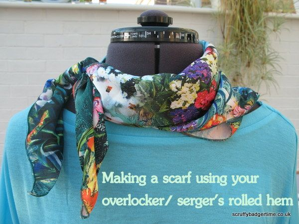 How to make a scarf using your sergers rolled hem