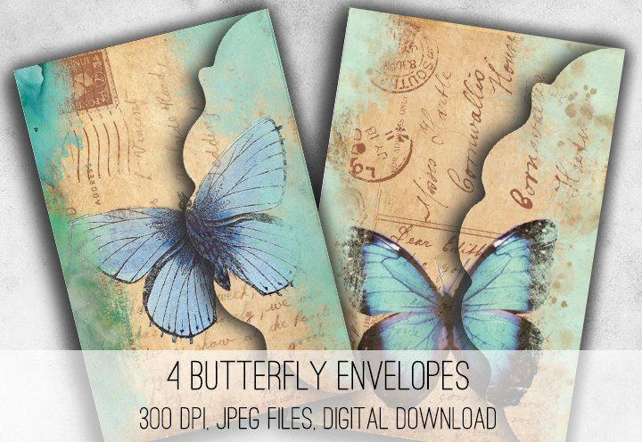 Butterfly Envelope Printables http://etsy.me/2CqBLmu