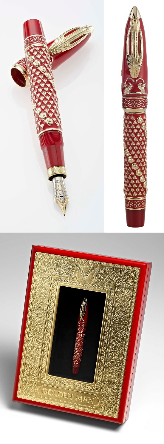 Visconti Golden Man Limited Edition fountain pen vermeil