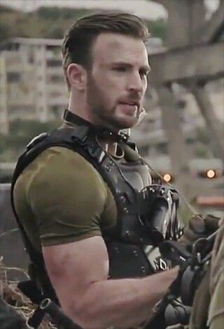 Chris Evans. I never wanted to play Call of Duty more. Guns & Guns!