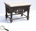 A Rosewood Victorian-pattern Centre Table With a Marble Top