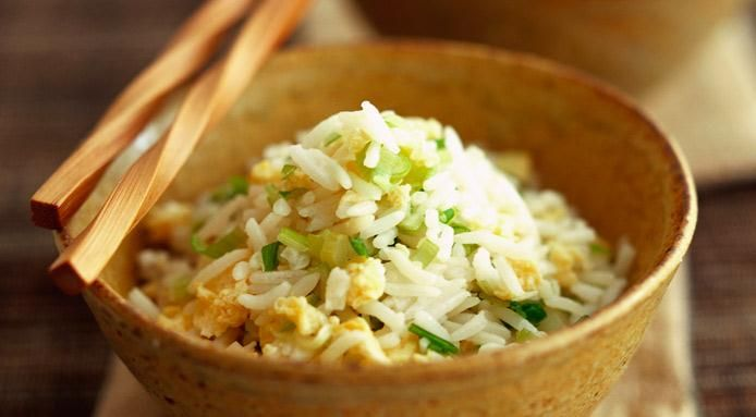 Fried Egg Rice With Spring Onions, from Fine Dining Lovers.