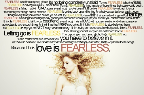 Fearless Taylor Swift Quote: Incredible