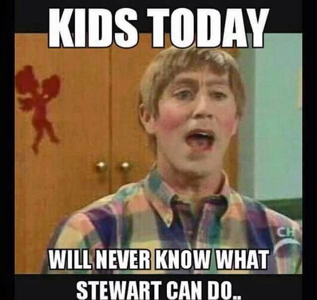 From a comedy sketch on Mad tv.  Stuart played by Michael James McDonald can be viewed on YOUTUBE