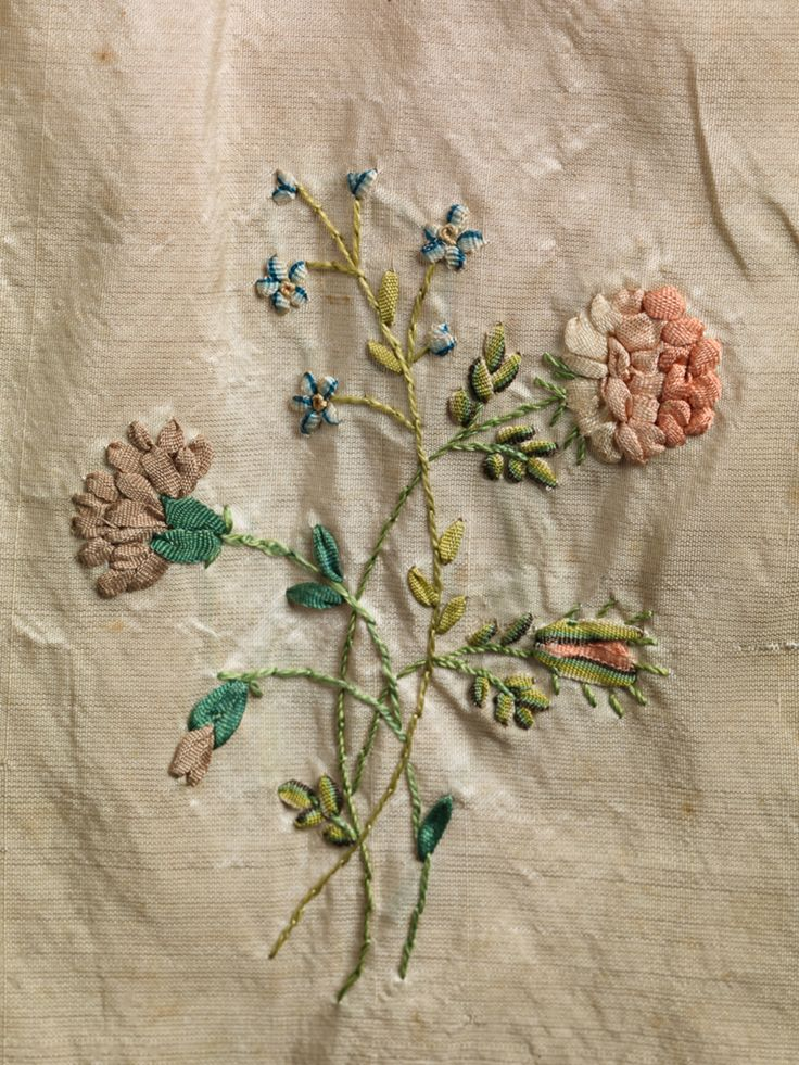 Best th and century silk ribbon embroidery images
