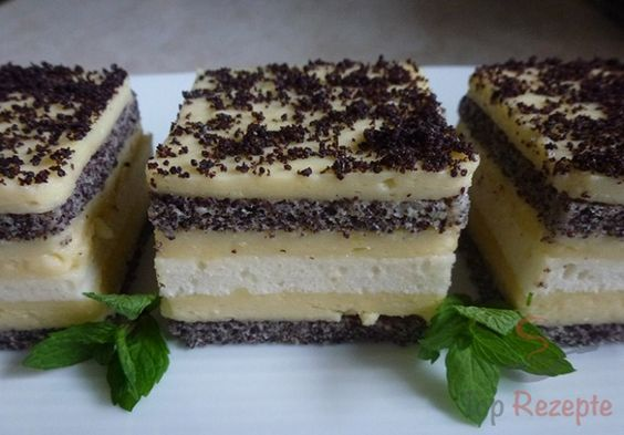 Mohnkuchen mit weißer Schokolade   Top-Rezepte.de