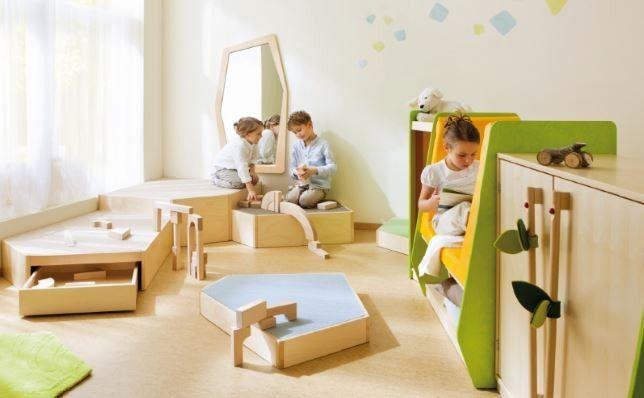 Kuschelhöhle kindergarten  Trennwand