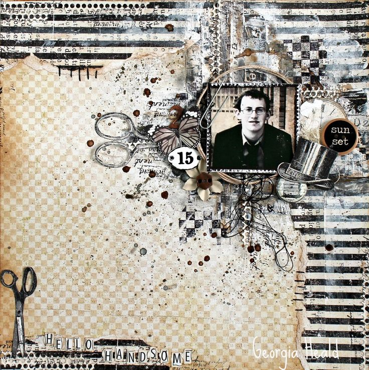 Mixed Media Layout for UHK Gallery