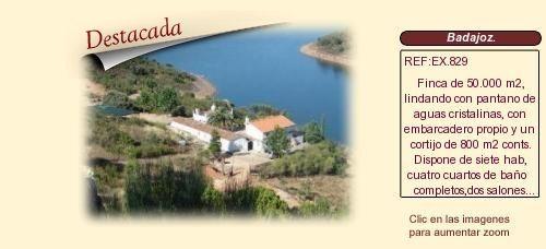 EX829 Badajoz.  Cortijo y finca en venta. http://www.lancoisdoval.es/fincas-en-venta.html