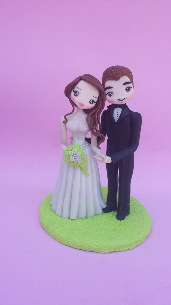 Top of wedding cake in fimo polymer clay by Artmary2 on Etsy