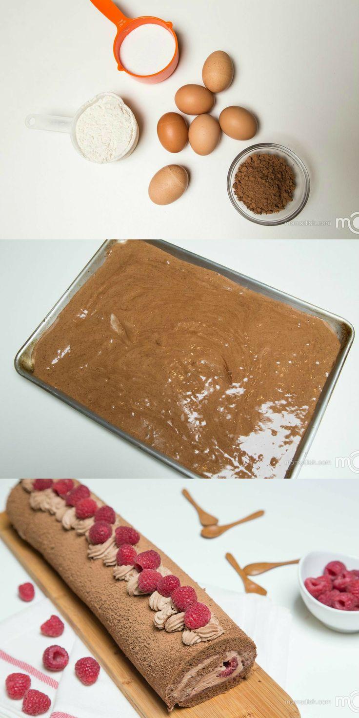 Raspberry Chocolate Roll Recipe Raspberries