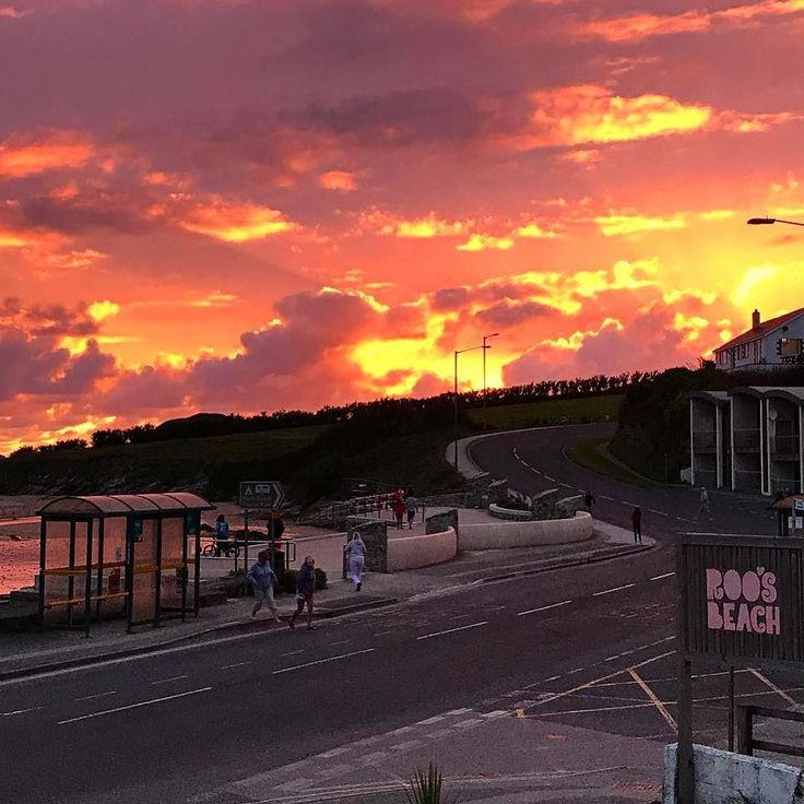 Such A Gorgeous Sunset Last Night In Porth And Another