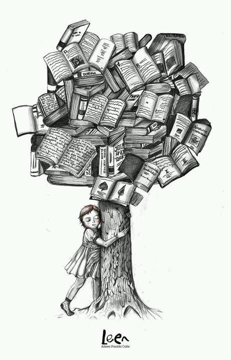 J'aime les livres et les histoires - I love books and stories.