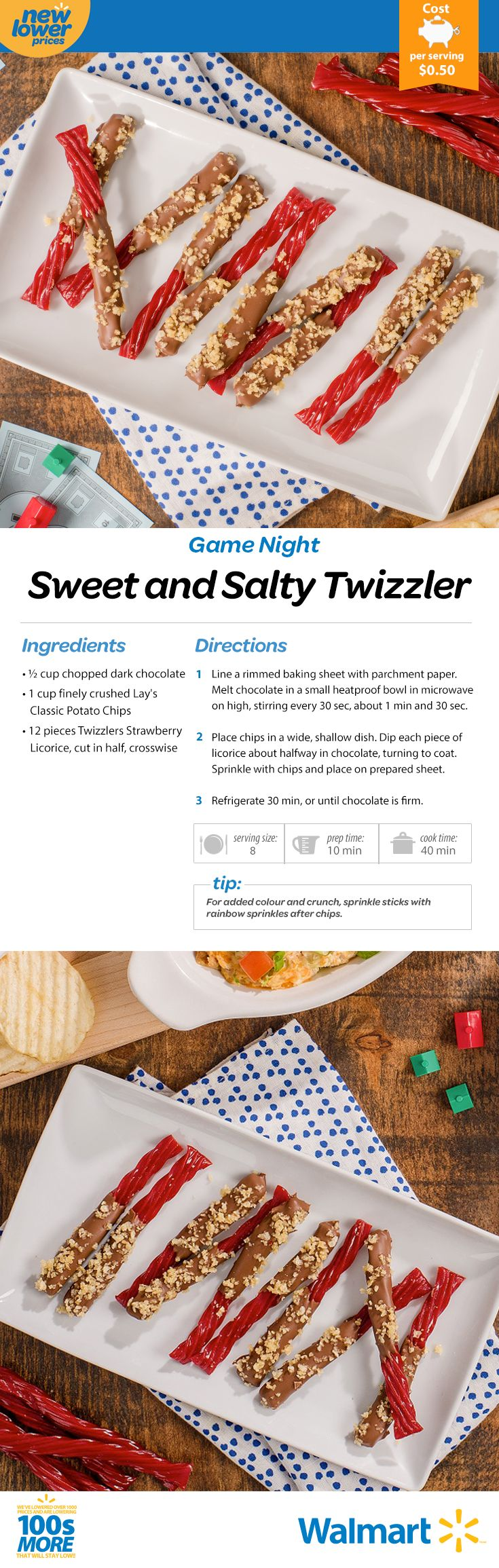 Next game night go for the gold with a sweet and salty snack built on layers of chocolate, chips … and Twizzlers!! #gamenight #games #sweetandsaltysnacks #realsolutions #savemoneyeatbetter #twizzlers
