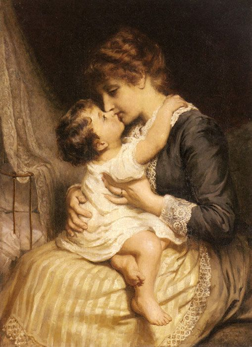 Motherly Love by Frederick Morgan ~1847 - 1927~ (1) From: World Classic Gallery, please visit