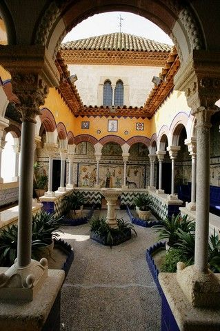 Palau Maricel, built in 1910 by American Charles Deering to house his art collections., Sitges, Catalonia
