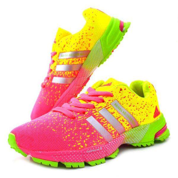 Adidas Marathon TR15 Bayan Pembe Sarı | BAYAN AYAKKABI | Spor | | Nelazimsa.net