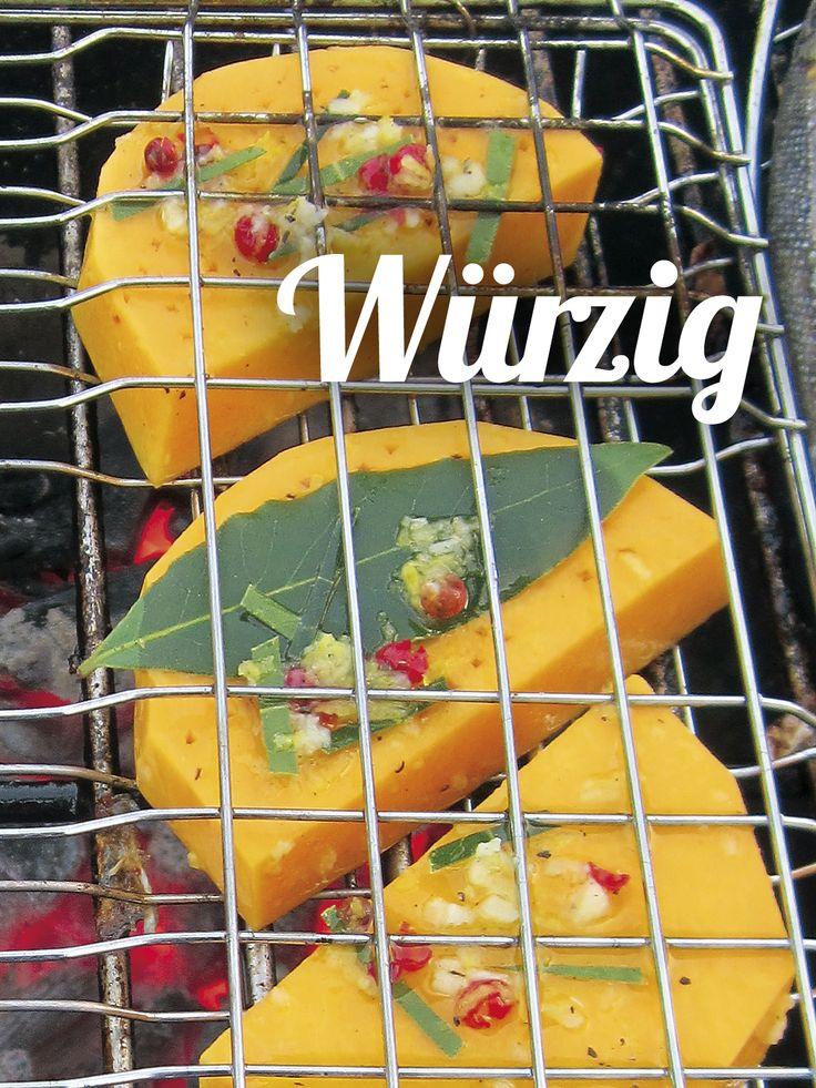Pfiffige Lorbeer-Knoblauch-Marinade für gegrillten Kürbis – passt perfekt zu Fisch. Dieses und mehr Kürbis-Rezepte gibt´s auf www.einfachgemüse.de