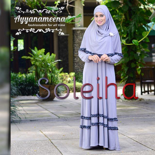 Soleiha #Gray (Dress + Bergo) IDR 315,000 #Hijab