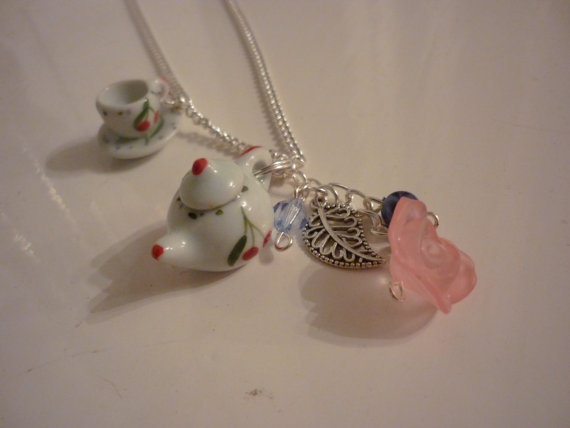 Teapot and Teacup Necklace by DreambirdDesign on Etsy, £8.00
