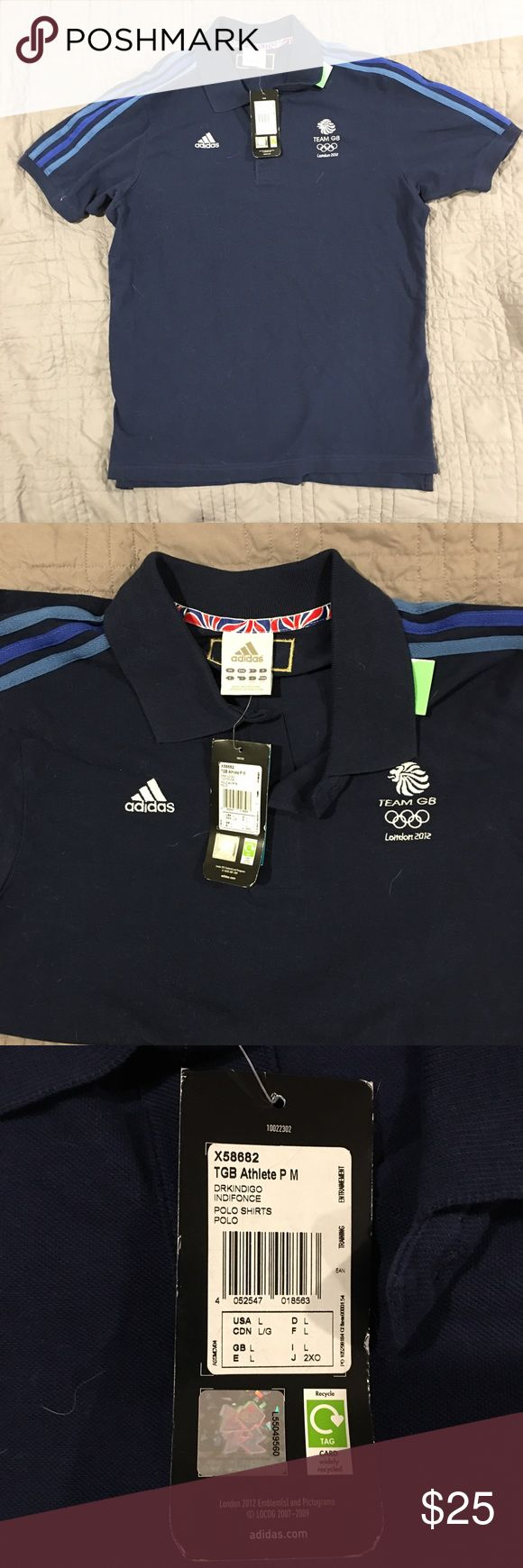 NWT Adidas Team GB 🇬🇧 Olympic Polo NWT Adidas Team GB 🇬🇧 Olympic Polo. Official merchandise from the London 2012 Olympic Games. Adidas Shirts Polos