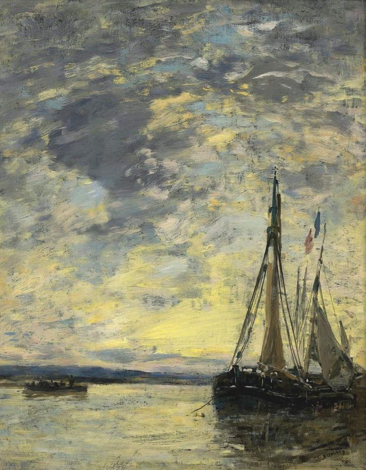 Sailer on the Water 1885 90 | Eugene Boudin | oil painting
