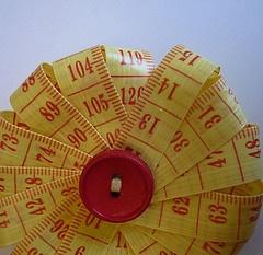 measuring tape flower