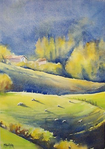 Aquarelles paysages - Aquarelle Marichalar Watercolor