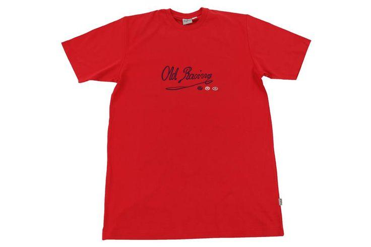 Sportowy T-Shirt Old Racing. Kolor czerwony. Dostępna w rozmiarach 3XL, 4XL, 5XL, 6XL, 7XL, 8XL. Skład: 100% bawełna.